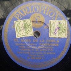 Discos de pizarra: DISCO PIZARRA 78 RPM - LOLA CABELLO & MIGUEL BORRULL (GUITARRA). Lote 91660055