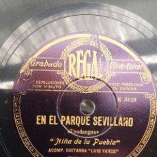 Discos de pizarra: DISCO PIZARRA 78 RPM - NIÑA DE LA PUEBLA & LUIS YANCE (GUITARRA). Lote 91660430