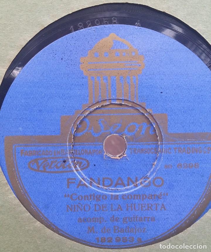 DISCO PIZARRA 78 RPM - NIÑO DE LA HUERTA & MANOLO BADAJOZ (GUITARRA) (Música - Discos - Pizarra - Flamenco, Canción española y Cuplé)