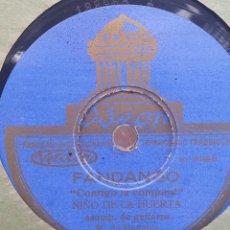 Shellac Records - DISCO PIZARRA 78 RPM - NIÑO DE LA HUERTA & MANOLO BADAJOZ (Guitarra) - 91661775