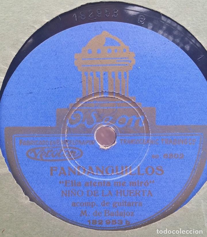 Discos de pizarra: DISCO PIZARRA 78 RPM - NIÑO DE LA HUERTA & MANOLO BADAJOZ (Guitarra) - Foto 2 - 91661775