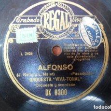 Discos de pizarra: DISCO PIZARRA - REGAL - ALFONSO Y ROSA LA GITANA - ORQUESTA VIVA - TONAL. Lote 93629615