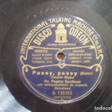 Discos de pizarra: PAQUITA ESCRIBANO. LA POLCA, COUPLET) + PASSY PASSY. Lote 93664210
