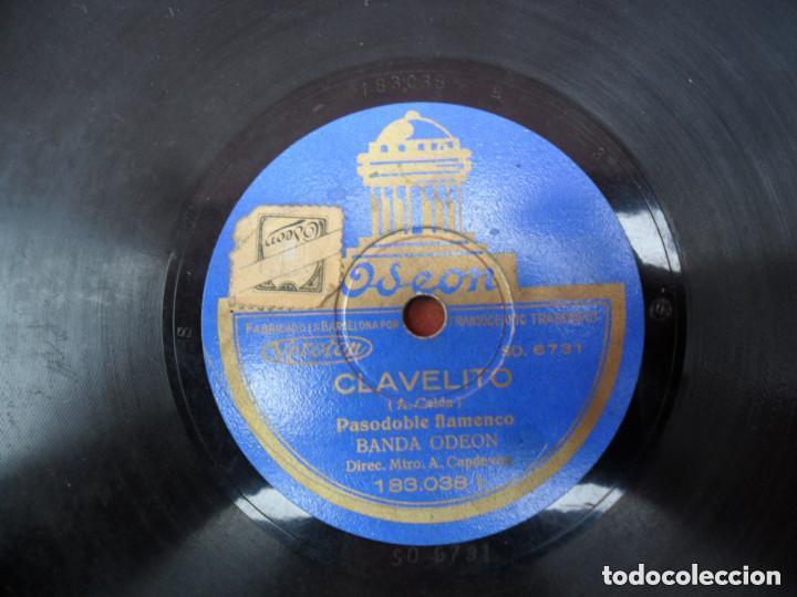 DISCO PIZARRA ODEON - CLAVELITO - BIENVENIDA (Música - Discos - Pizarra - Flamenco, Canción española y Cuplé)