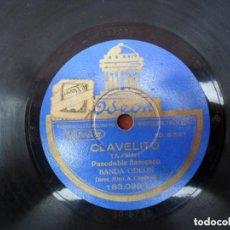 Discos de pizarra: DISCO PIZARRA ODEON - CLAVELITO - BIENVENIDA. Lote 93963035