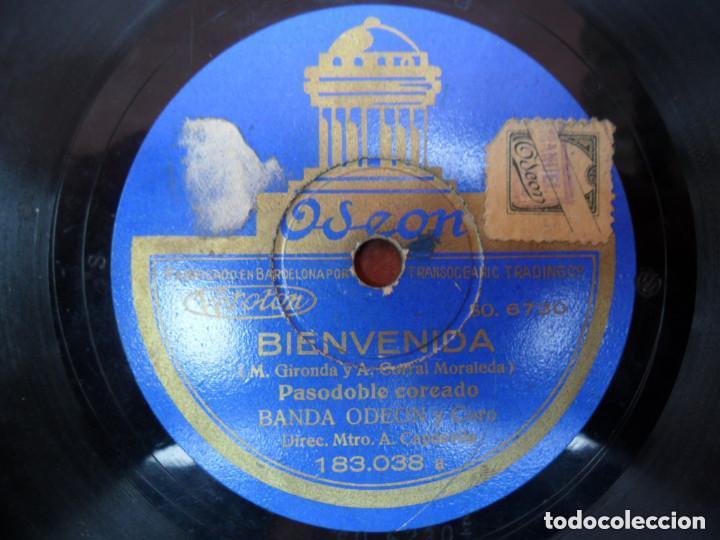 Discos de pizarra: DISCO PIZARRA ODEON - CLAVELITO - BIENVENIDA - Foto 2 - 93963035