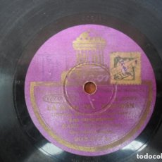 Discos de pizarra: DISCO PIZARRA DE LA CASA ODEON - LA ROSA DEL AZAFRAN. Lote 93963325
