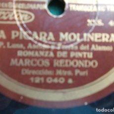 Discos de pizarra: DISCO DE PIZARRA LA PICARA MOLINERA RONDA QUE PASA RONDALLA. Lote 94110645