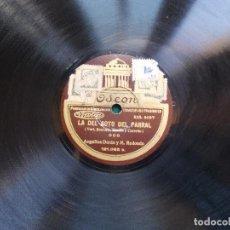 Discos de pizarra: DISCO DE PIZARRA LA DEL SOTO DEL REAL DUO ANGELINA DURIN Y M. REDONDO ROMANZA. Lote 94287938
