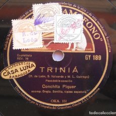 Discos de pizarra: CONCHITA PIQUER - TRINIÁ - YA NO TE QUIERO - DISCO DE PIZARRA. Lote 94317962