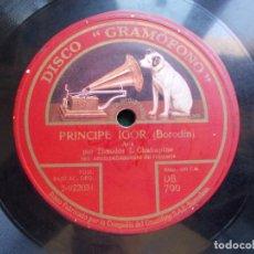 Discos de pizarra: DISCO DE PIZARRA PRINCIPE IGOR ( BORODÍN). Lote 94373030