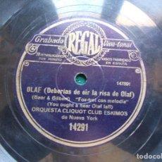 Discos de pizarra: DISCO DE PIZARRA UN PUEBLECITO LLAMADO CASITA-OLAF. Lote 94377834