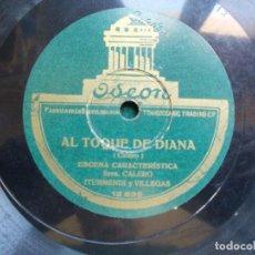 Discos de pizarra: DISCO DE PIZARRA AL TOQUE DE DIANA. Lote 94378258