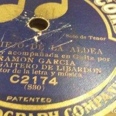 Discos de pizarra: GAITERO DE LIBARDON ASTURIAS DISCO DE PIZARRA. Lote 94444982