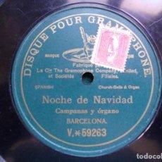 Discos de pizarra: DISCO PIZARRA NOCHE DE NAVIDAD CAMPANAS Y ORGANO. Lote 94556631