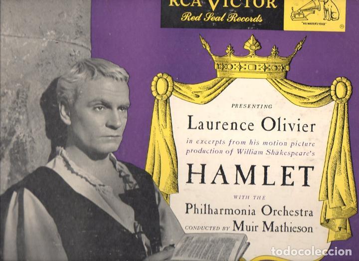 LAURENCE OLIVIER : HAMLET - ALBUM 3 DISCOS PIZARRA 78 RPM 12 PULGADAS - IMPECABLE (Música - Discos - Pizarra - Bandas Sonoras y Actores )