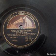 Discos de pizarra: FIDELIO BEETHOVEN. Lote 25758979