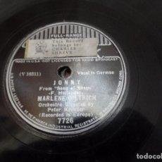 Discos de pizarra: MARLENE DIETRICH JONNY, PETER. Lote 94991919
