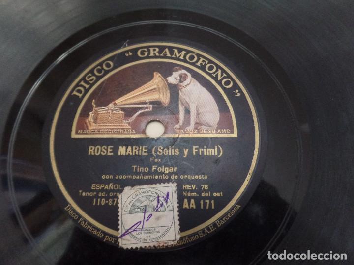 Discos de pizarra: Rose Marie ( Solis y Frimi) - Foto 2 - 94992303