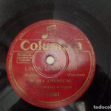 Discos de pizarra: LINDA, LINDA MARI - GILDA, MARIA AMENGUAL. Lote 94992967