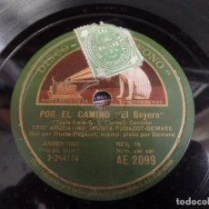 Discos de pizarra: TRIO ARGENTINO IRUSTA-FUGAZOT-DEMARE. Lote 94993279
