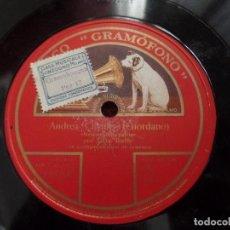 Discos de pizarra: TITTA RUFFO LOS DOS GRANADEROS, ANDREA. Lote 94994055