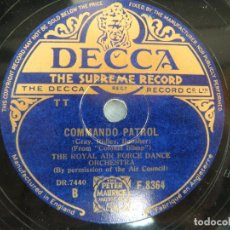 Discos de pizarra: DISCO PIZARRA AIR FORCE DANCE ORCHESTRA. Lote 95323275
