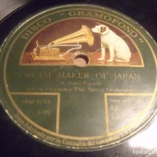 Discos de pizarra: THE SAVOY ORPHEANS ORCHESTRA DREAM MAKER OF JAPAN / BY THE LAKE. Lote 95903491