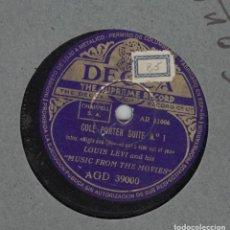 Discos de pizarra: COLE PORTER. SUITE Nº 1 Y 2. L. LEVI AND MUSIC FROM THE MOVIES. DISCO PIZARRA DECCA. Lote 97710783