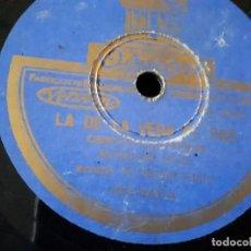 Discos de pizarra: CANCION MONTAÑESA AURELIO RUIZ DISCO DE PIZARRA. Lote 97864643