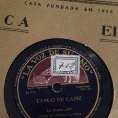 Discos de pizarra: DISCO DE PIZARRA PAN Y TOROS LA ARGENTINITA. Lote 97950859