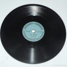 Discos de pizarra: DISCO DE PIZARRA PEQUEÑO PYGMO - DISQUE, PARA PYGMOPHONE, B18, AUX ARMES ORCHESTRE 7002 Y RAZZIA OR. Lote 98365555