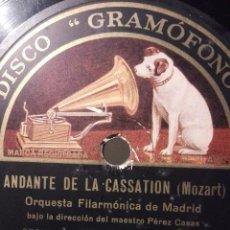 Discos de pizarra: ORQUESTA FILARMÓNICA DE MADRID. Lote 98501907