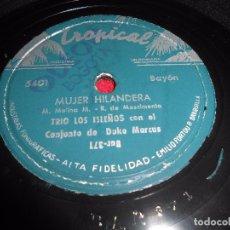 Discos de pizarra: TRIO LOS ISLEÑOS&CONJUNTO DUKE MARCUS ROSA DE MAYO/MUJER HILANDERA 25 CTMS 10 PULGADAS COLOMBIA. Lote 99199379