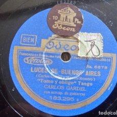 Discos de pizarra: CARLOS GARDEL. COMO ABRAZADO A UN RENCOR. TANGO. ANTIGUO DISCO DE PIZARRA PARA GRAMOFONO.. Lote 99287307