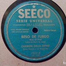 Discos de pizarra: CARMEN DELIA DIPINI, RENE TOUZET Y SU ORQUESTA* ?– BESO DE FUEGO / HIJO MIO - DISCO DE PIZARRA. Lote 99565575