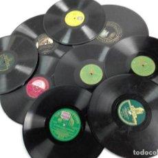 Discos de pizarra: LOTE DE DISCOS DE PIZARRA PARA GRAMOFONOS---. Lote 100051843
