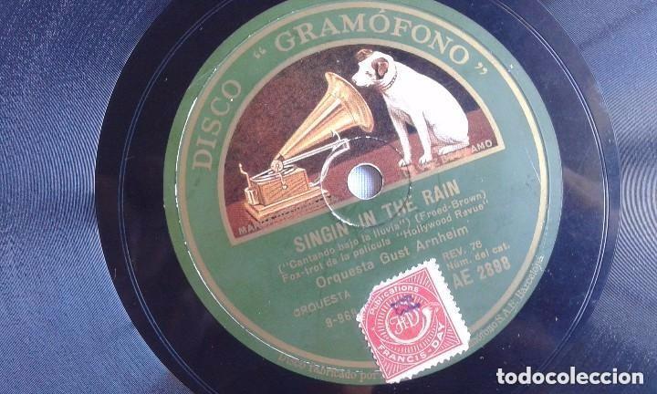 Discos de pizarra: Singin in the rain. Orquesta Gust Arnheim - Foto 2 - 100085655