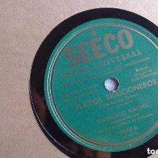 Discos de pizarra: VICENTICO VALDES. PLAZOS TRAICIONEROS. Lote 100085759