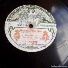Discos de pizarra: DISCO DE PIZARRA. FONOTIPIA. MARINA ITALIANA. LA GIOCONDA. ENVIO INCLUIDO EN EL PRECIO.. Lote 100756555