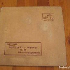 Discos de pizarra: ALBUM DE 6 DISCOS DE PIZARRA SINFONIA Nº 3 HEROICA BEETHOVEN. DIR. S. KOUSSEVITZKY. LA VOZ DE SU AMO. Lote 101381343
