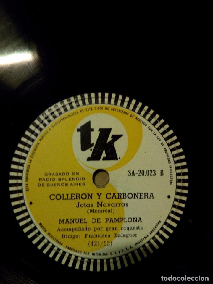 Discos de pizarra: disco pizarra manuel pamplona ole torero colleron y carbonera - Foto 2 - 101444315