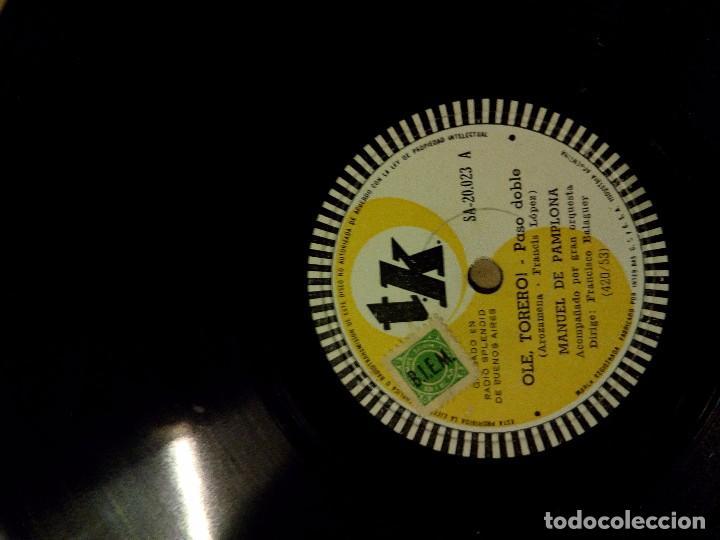 Discos de pizarra: disco pizarra manuel pamplona ole torero colleron y carbonera - Foto 3 - 101444315