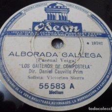 Discos de pizarra: DISCO DE PIZARRA. GALICIA GAITEROS DE COMPOSTELA. TERRA A NOSA MUÑEIRA / ALBORADA GALLEGA. GAITA. Lote 101793279