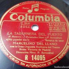 Discos de pizarra: TABERNERA DEL PUERTO. NO PUEDE SER / DESPIERTA NEGRO. MARCELINO DEL LLANO (ASTURIANO) / MANUEL GAS. Lote 101958831