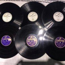 Discos de pizarra: 6 DISCOS DE PIZARRA ( 4 DISCOS DE SARDANAS, 1 DE CANCION CATALANA, 1 PABLO CASALS ). Lote 102088936
