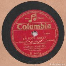 Discos de pizarra: DISCO 10 PULGADAS - 78 RPM.-MANOLO CARACOL-LOLA FLORES-NIÑO RICARDO A LA GUITARRA-ORIGINAL 1944.. Lote 103327327