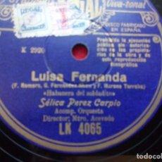 Discos de pizarra: DISCO PIZARRA FAUSTINO ARREGUI HABANERA DEL SOLDADITO REGAL LK4065. Lote 103463247