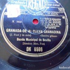 Discos de pizarra: DISCO PIZARRA BANDA MUNICIPAL DE SEVILLA BANDA MARTIN DOMINGO REGAL DK8596. Lote 103465815