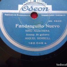 Discos de pizarra: DISCO PIZARRA NIÑO MARCHENA FANDANGUILLO NUEVO MILONGA ODEON 182049. Lote 103469363